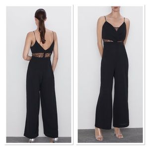 Zara mixed jumpsuit with lace NWT